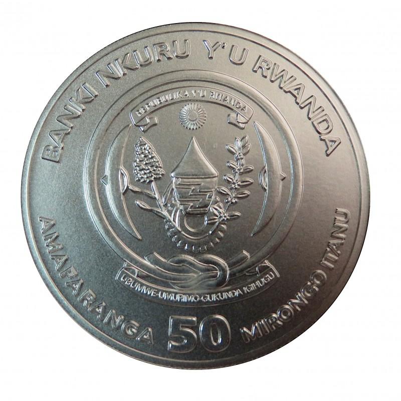 Ruanda, 50 Francs ( 1 OZ. 999 mls) HMS Victoria 2019 S/C
