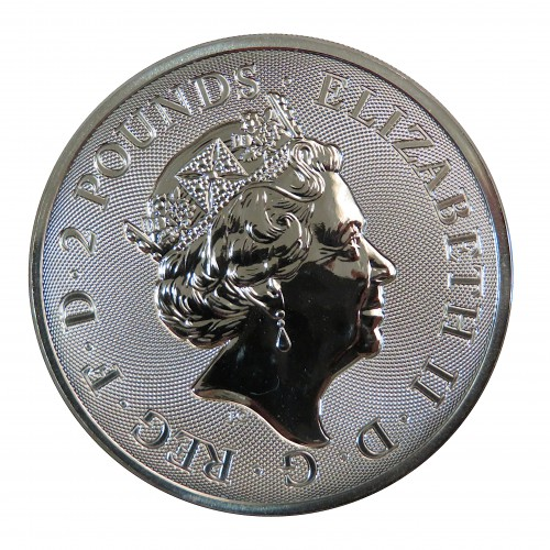 Gran Bretaña, 2 Pounds Plata ( 1 OZ. 999 mls. ) Valiant 2019, BU.
