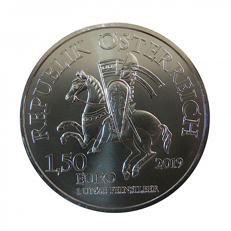 Austria, 1,5 € Plata (1 OZ. 999 mls) Neustdat 2019, S/C