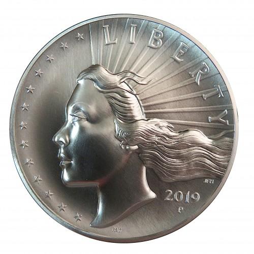 Estados UNidos, 2,5 OZ Plata (77,76 grs. ley 999 mls) Lady Liberty High Relief 2019