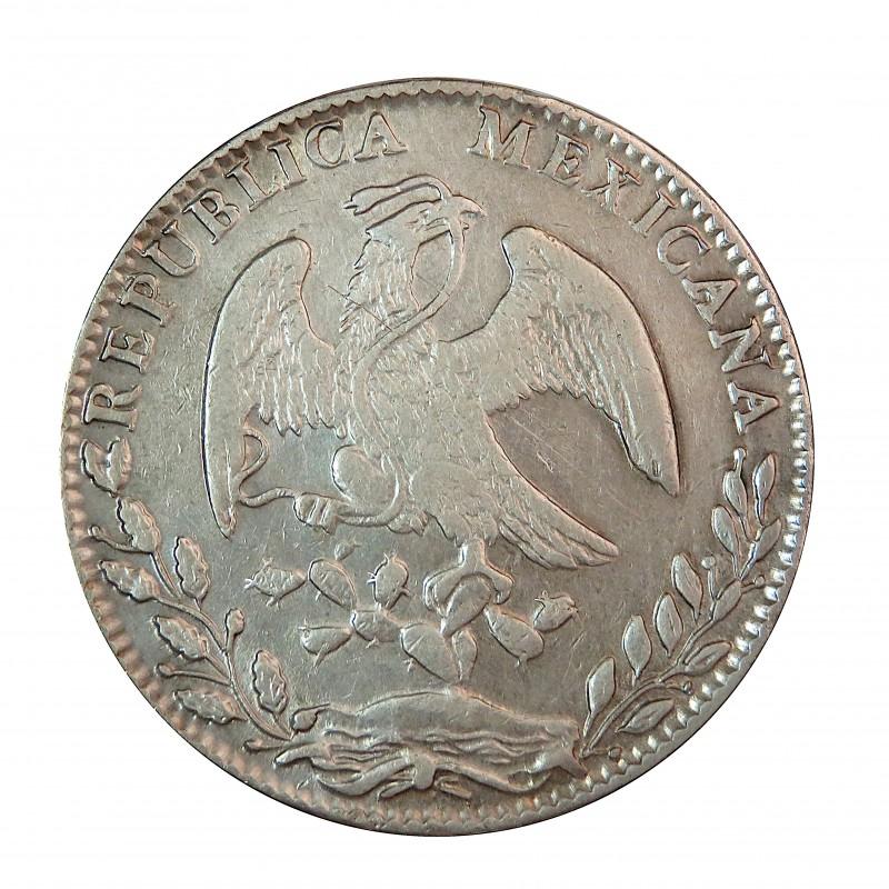 México, 8 reales plata, 1884 Guanajuato B.R., MBC+