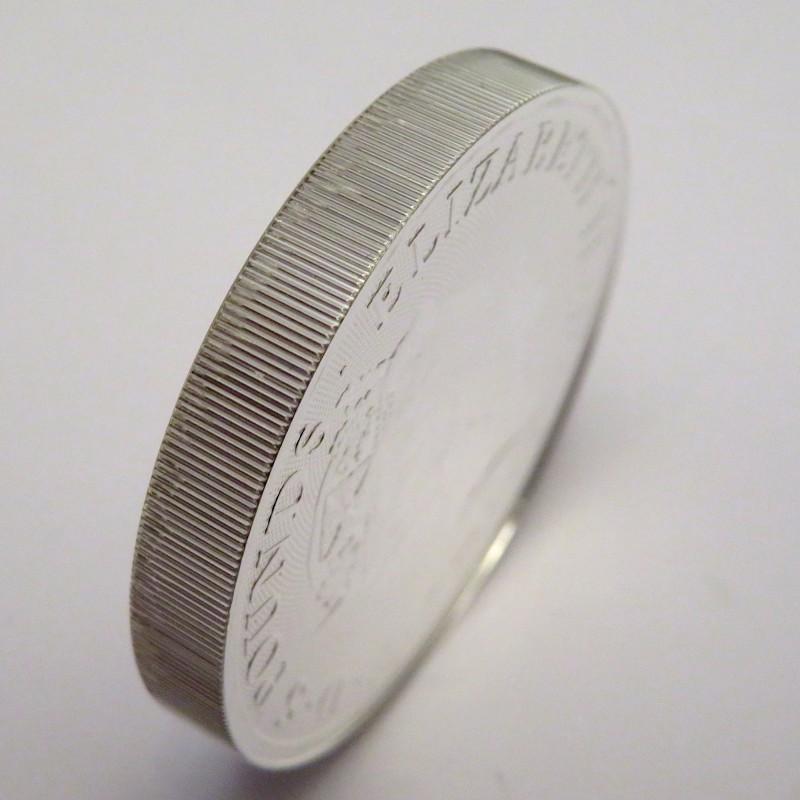 Gran Bretaña, 5 Pounds Plata ( 2 OZ. 999 mls. ) Serie Bestias, León Blanco de Mortimer 2020.