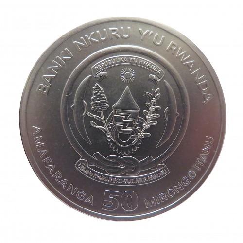 Ruanda, 50 Francs Plata ( 1 OZ. 999 mls. ) Año Rata, 2020.