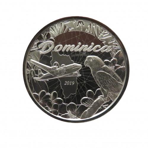 Dominica, 2 $ Plata ( 1 OZ. 999 mls. ) 2019, Hidroavión II.