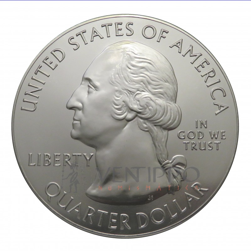 Estados Unidos, Quarter Dollar ( 5 OZ 999 mls. ) 2019, Wilderness, Idaho.