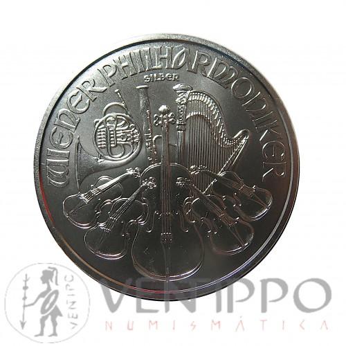 Austria, 1,5 € Plata ( 1 OZ. 999mls. ) Filarmónica 2010 , S/C