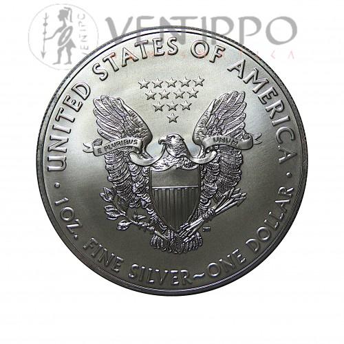 Estados Unidos, Dollar Plata ( 1 OZ, 999 mls. ) Liberty Eagle 2020 S/C.