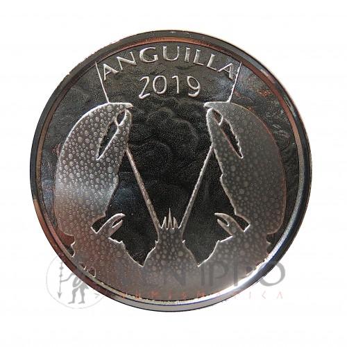 Anguilla,2 ~plata ( 1 OZ., ley 999 mls. ) 2019 EC8II Cangrejo, Prooflike.