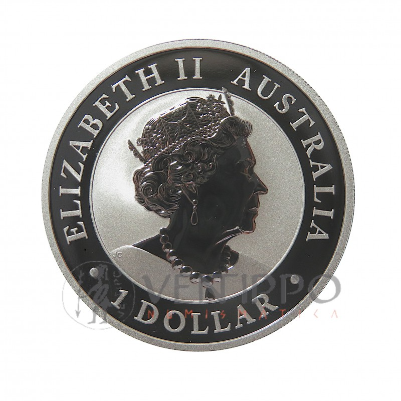 Australia, Dollar plata ( 1 OZ. 999 mls. ) 2020 Serie Nugget, Hand of Faith, BU.
