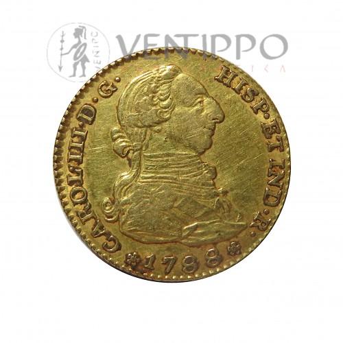 Carlos III, 2 Escudos oro, 1788 Madrid M.