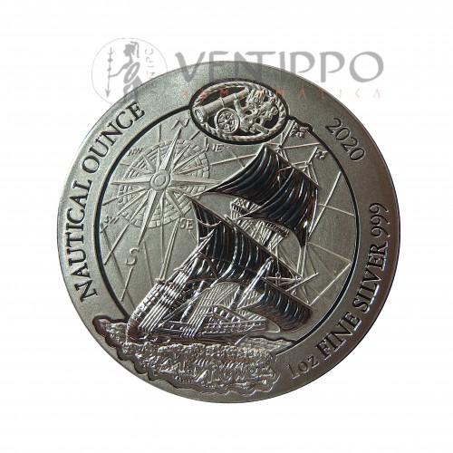 Ruanda, 50 Francs plata ( 1 OZ. 999 mls. ) Myflower 2020, S/C.