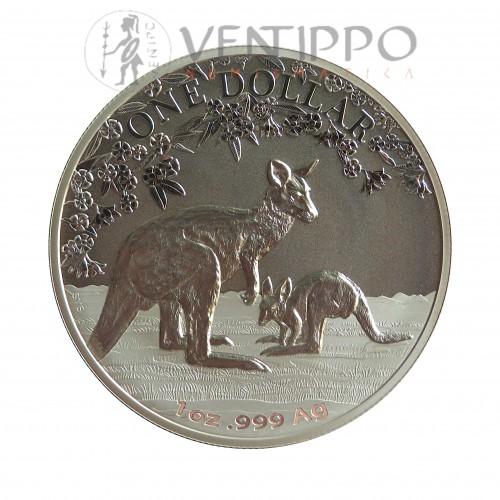 Australia, Dollar palta ( 1 OZ, 999mls. ) Canguro Ram 2017, BU