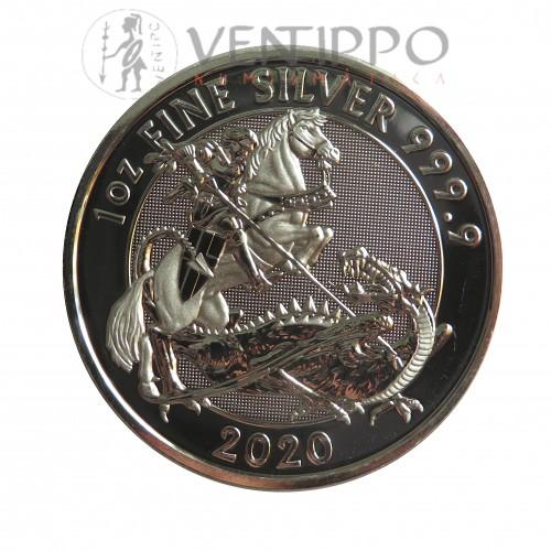 Gran Bretaña, 2 Pounds plata ( 1 OZ. 999 mls. ) Valiant 2020, BU.