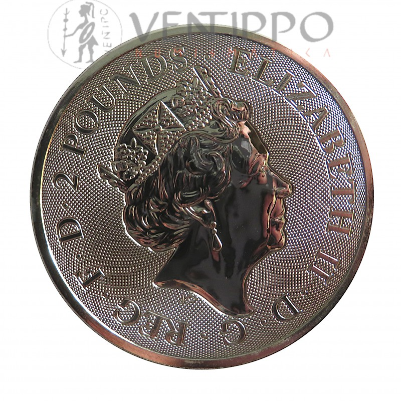 Gran Bretaña, 2 Pounds plata ( 1 OZ. 999 mls. ) Valiant 2020, BU.