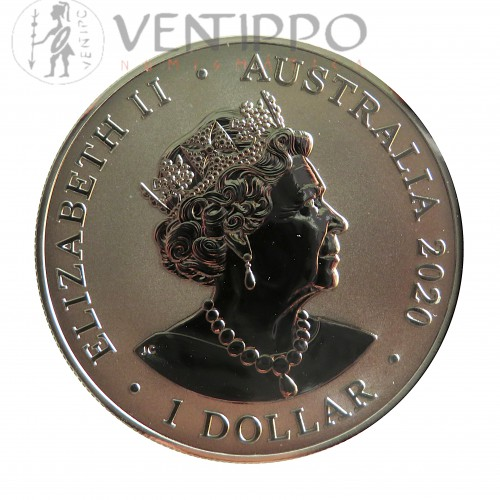Australia, Dollar plata ( 1 OZ. 999 mls. ) Redback Spider, 2020 BU.