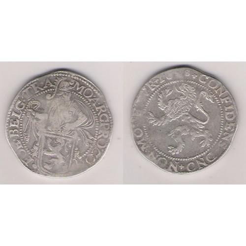 PAÍSES BAJOS, UTRECHT, DAALDER DEL LEÓN PLATA, 1668 ESCASA